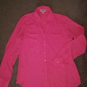 Express hot pink Ladies Portofino shirt small blou